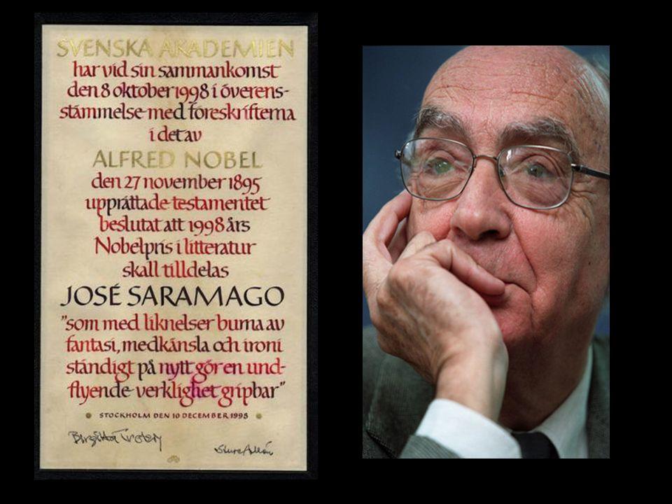 1998 – Recebe o Prêmio Nobel de Literatura,