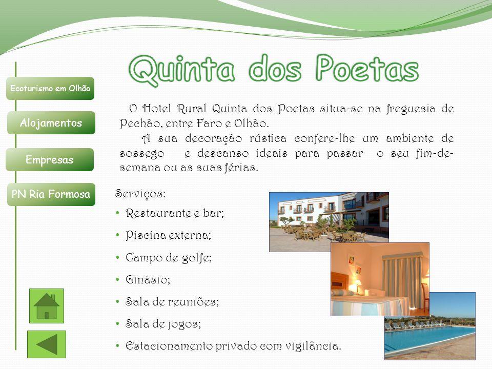 Quinta dos Poetas Ecoturismo em Olhão. Alojamentos. Empresas. PN Ria Formosa.