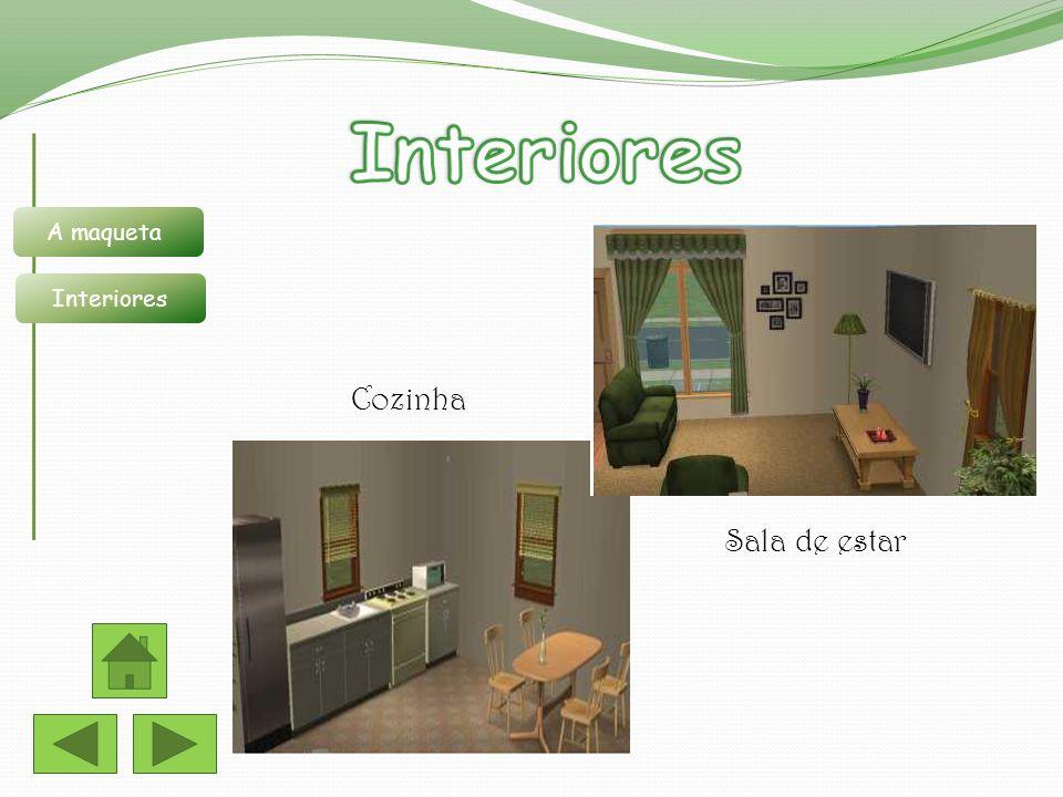 Interiores A maqueta Interiores Cozinha Sala de estar