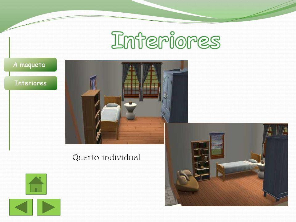 Interiores A maqueta Interiores Quarto individual