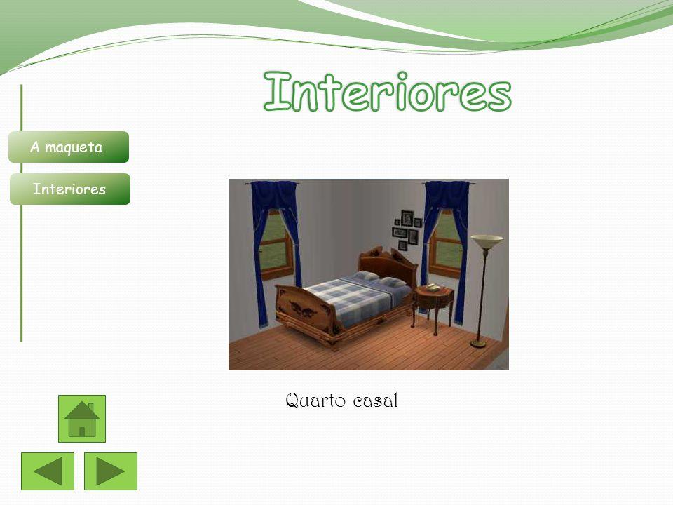 Interiores A maqueta Interiores Quarto casal