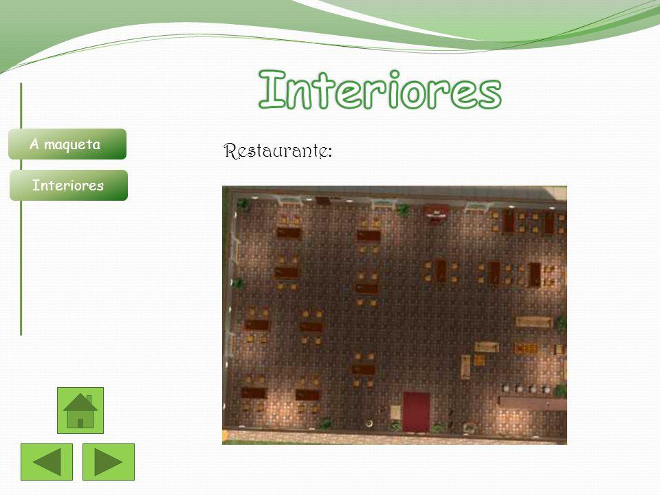 Interiores A maqueta Interiores Restaurante: