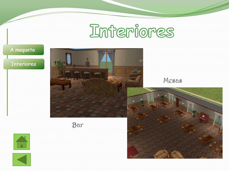 Interiores A maqueta Interiores Mesas Bar