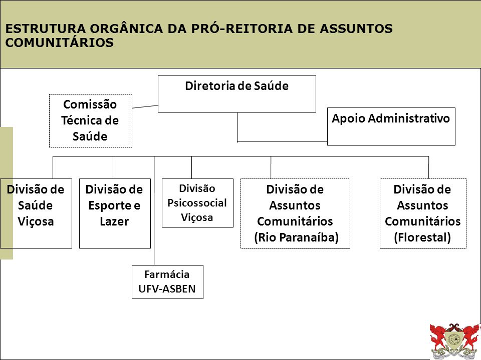 Estrutura UFV Diretoria de Saúde Comissão Técnica de Saúde