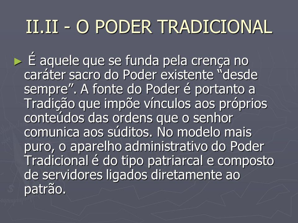 II.II - O PODER TRADICIONAL