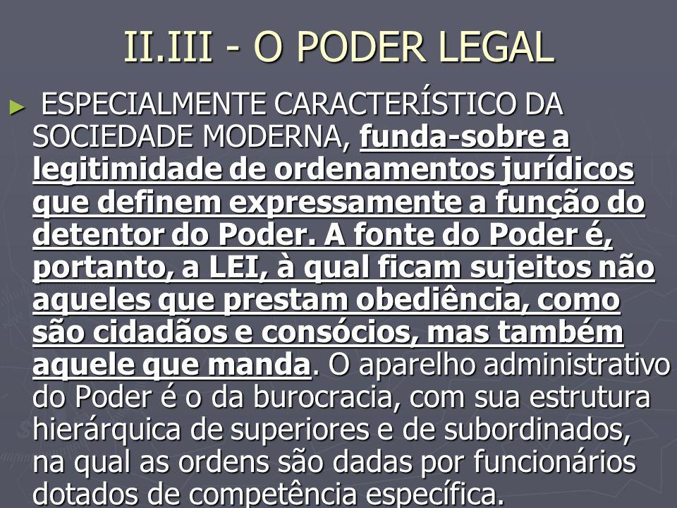 II.III - O PODER LEGAL