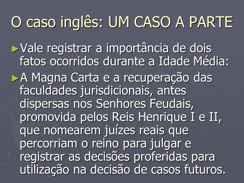 O caso inglês: UM CASO A PARTE