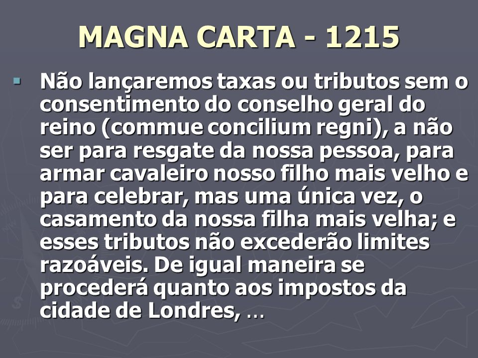 MAGNA CARTA - 1215