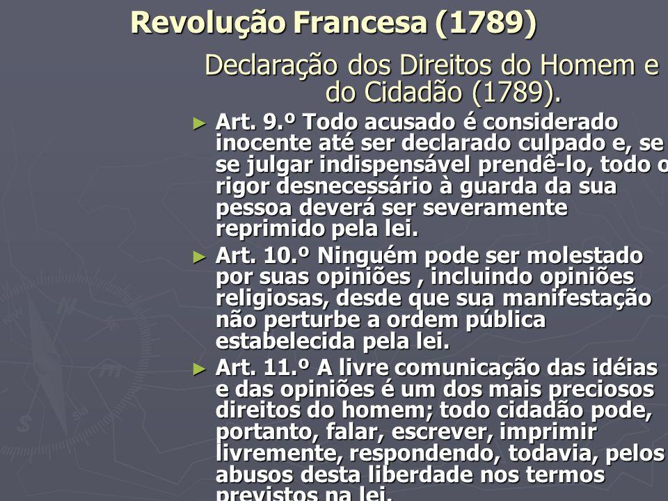 Declaração dos Direitos do Homem e do Cidadão (1789).