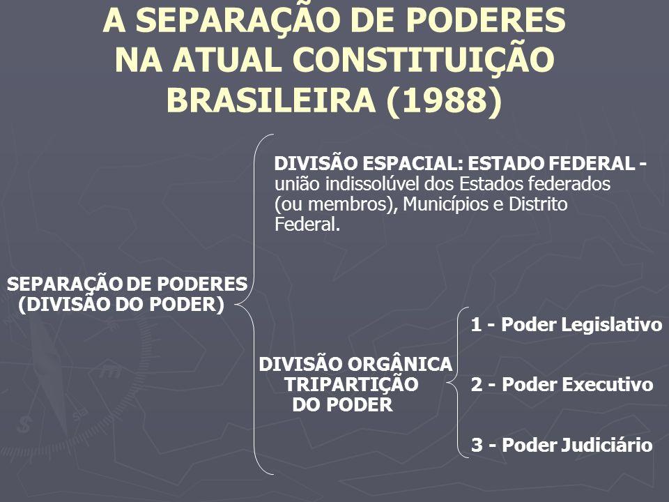 A SEPARAÇÃO DE PODERES NA ATUAL CONSTITUIÇÃO BRASILEIRA (1988)