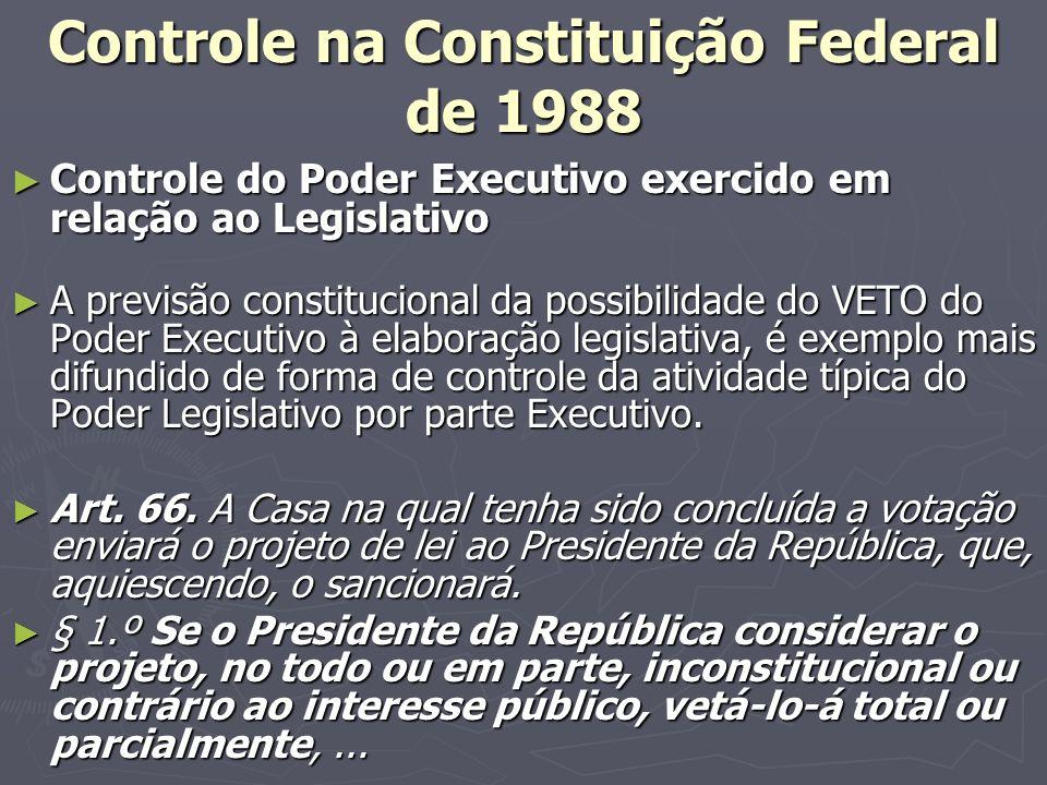 Controle na Constituição Federal de 1988