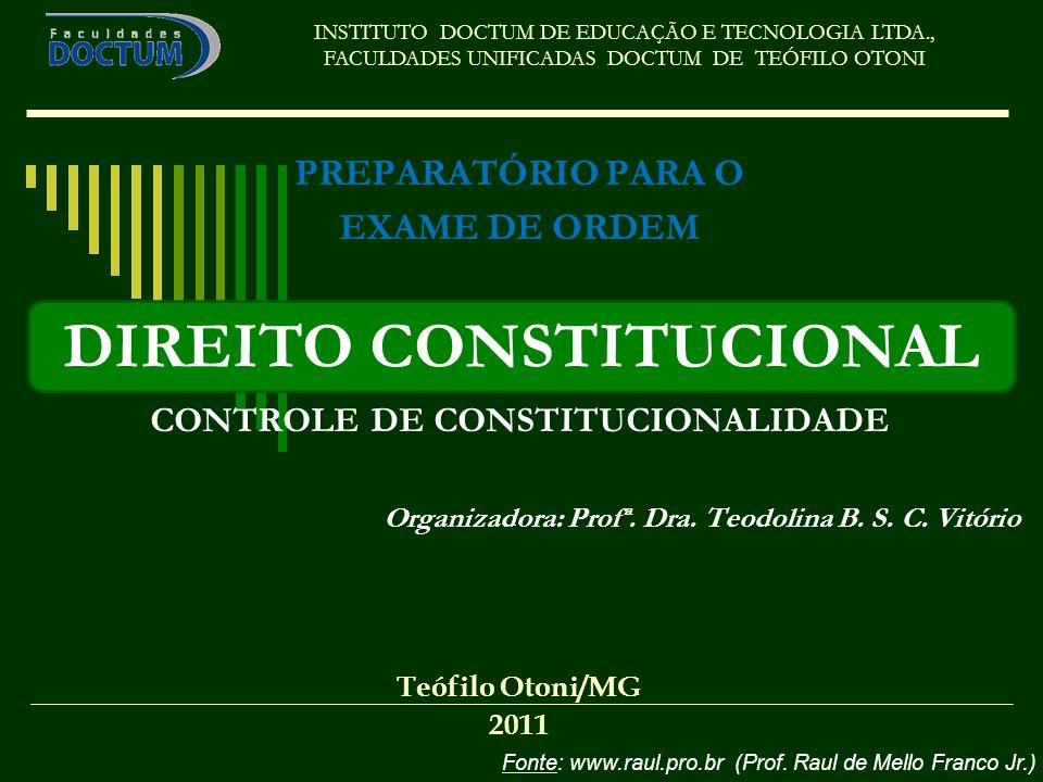 CONTROLE DE CONSTITUCIONALIDADE DIREITO CONSTITUCIONAL