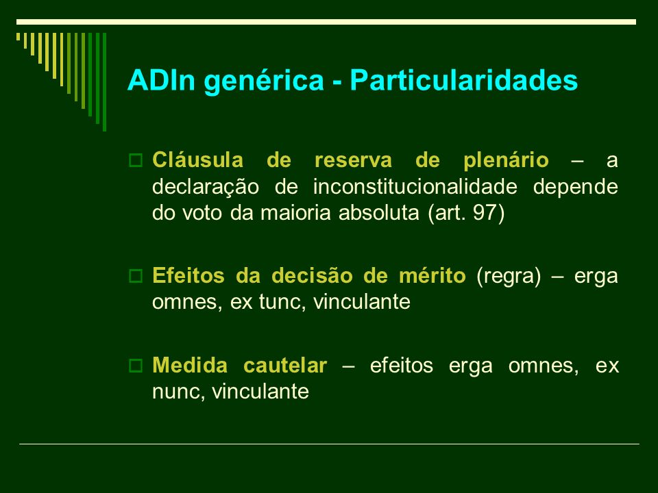 ADIn genérica - Particularidades
