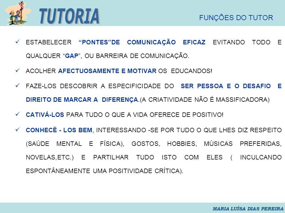 TUTORIA FUNÇÕES DO TUTOR