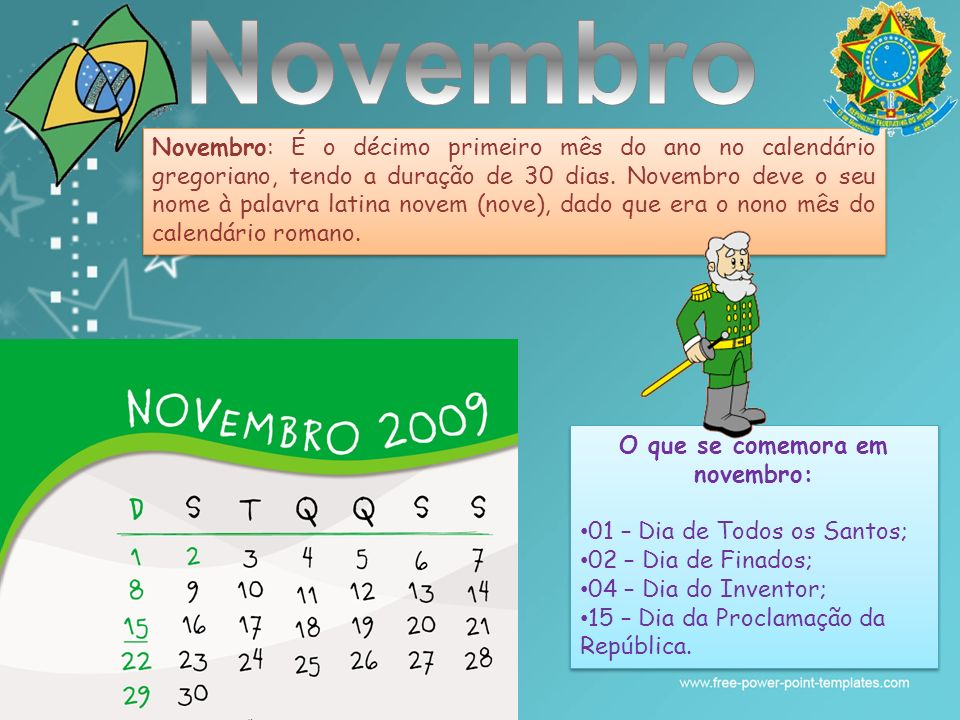 O que se comemora em novembro: