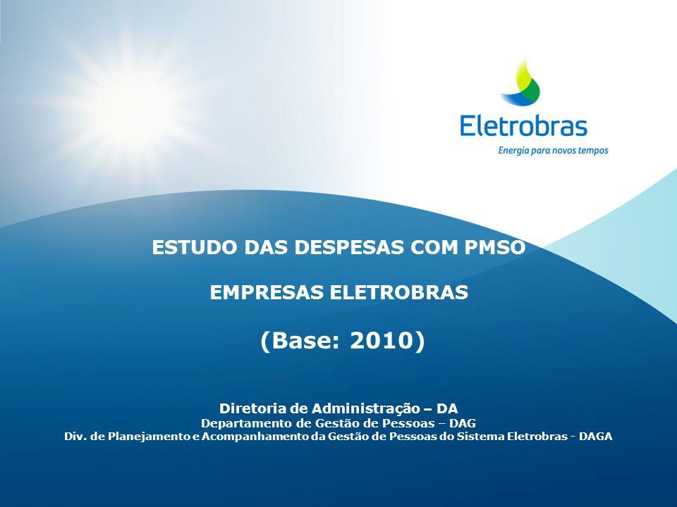(Base: 2010) ESTUDO DAS DESPESAS COM PMSO EMPRESAS ELETROBRAS