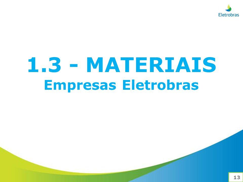 1.3 - MATERIAIS Empresas Eletrobras