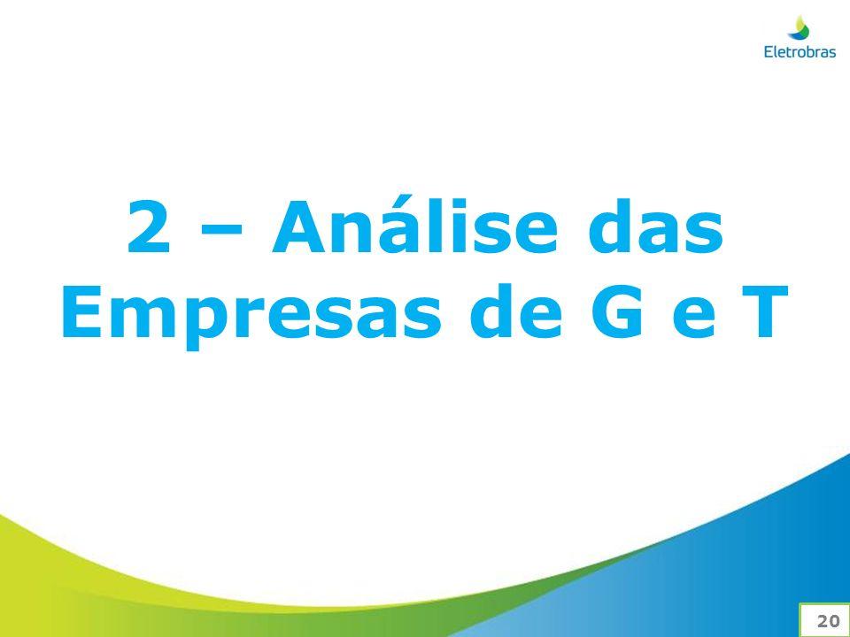 2 – Análise das Empresas de G e T