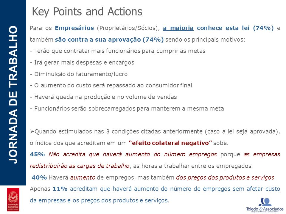 Key Points and Actions