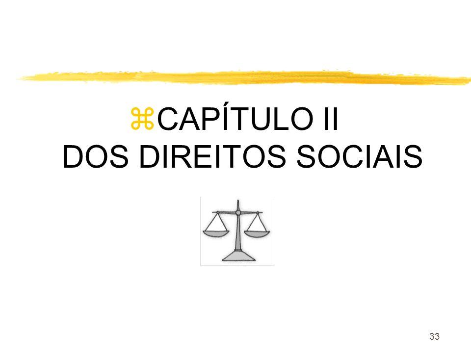 CAPÍTULO II DOS DIREITOS SOCIAIS