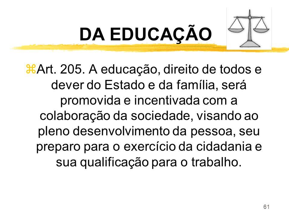 DA EDUCAÇÃO