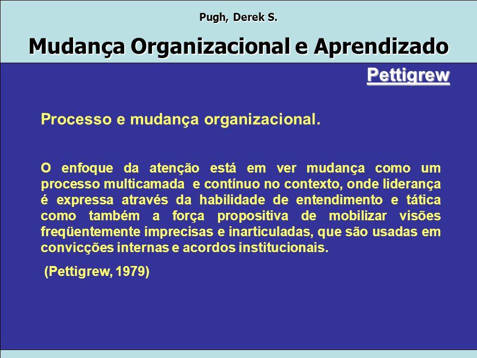 Pettigrew Processo e mudança organizacional.