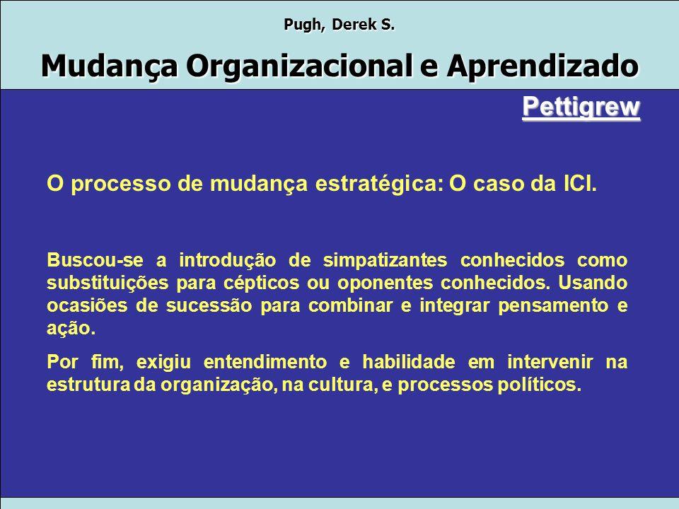 Pettigrew O processo de mudança estratégica: O caso da ICI.