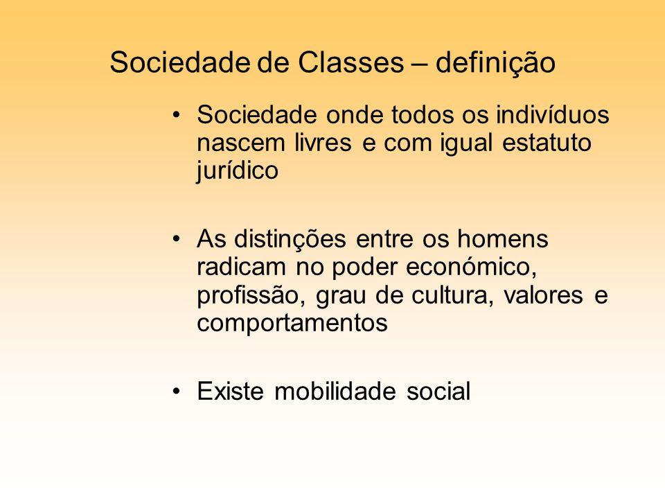 Sociedade de Classes – definição
