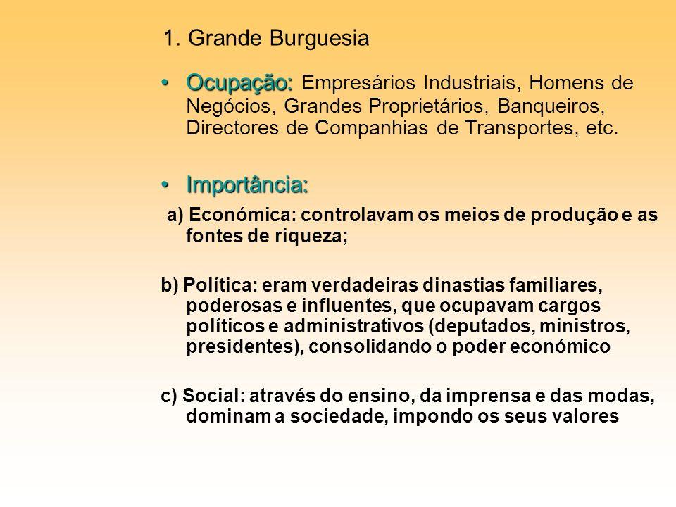 a) Económica: controlavam os meios de produção e as fontes de riqueza;