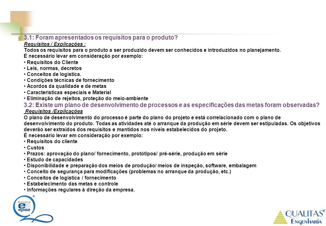 3.1: Foram apresentados os requisitos para o produto