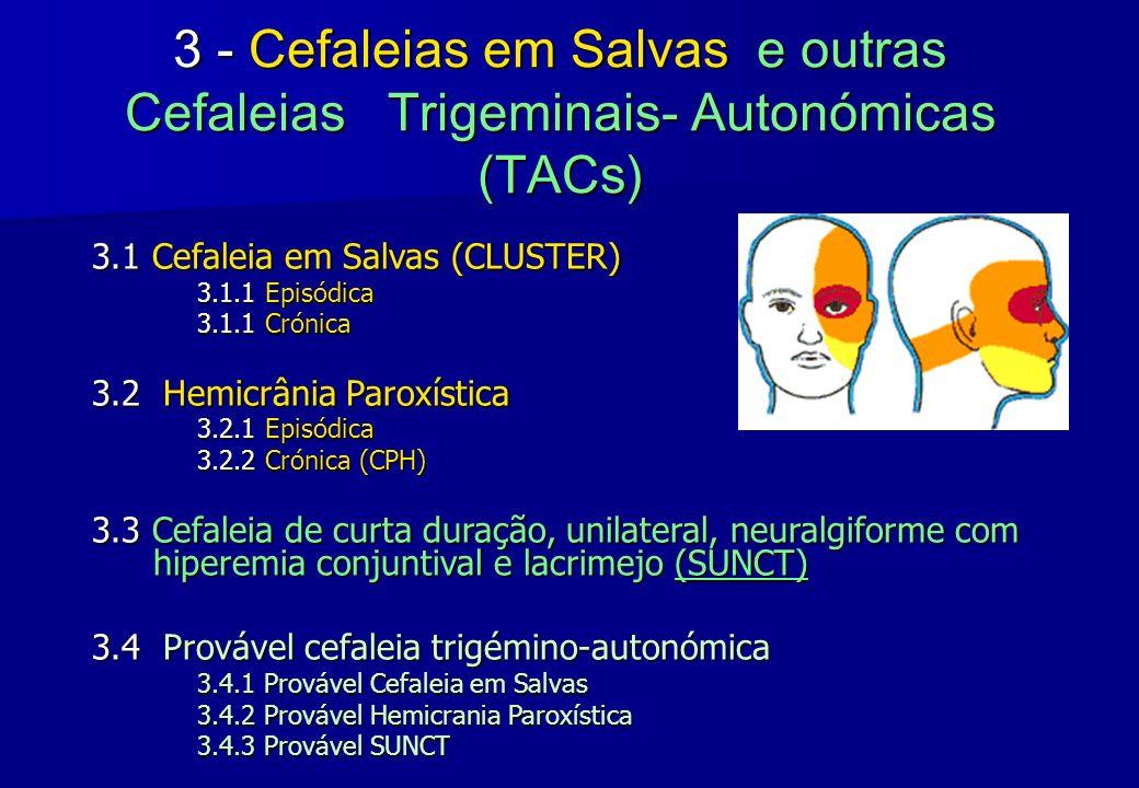 3 - Cefaleias em Salvas e outras Cefaleias Trigeminais- Autonómicas (TACs)
