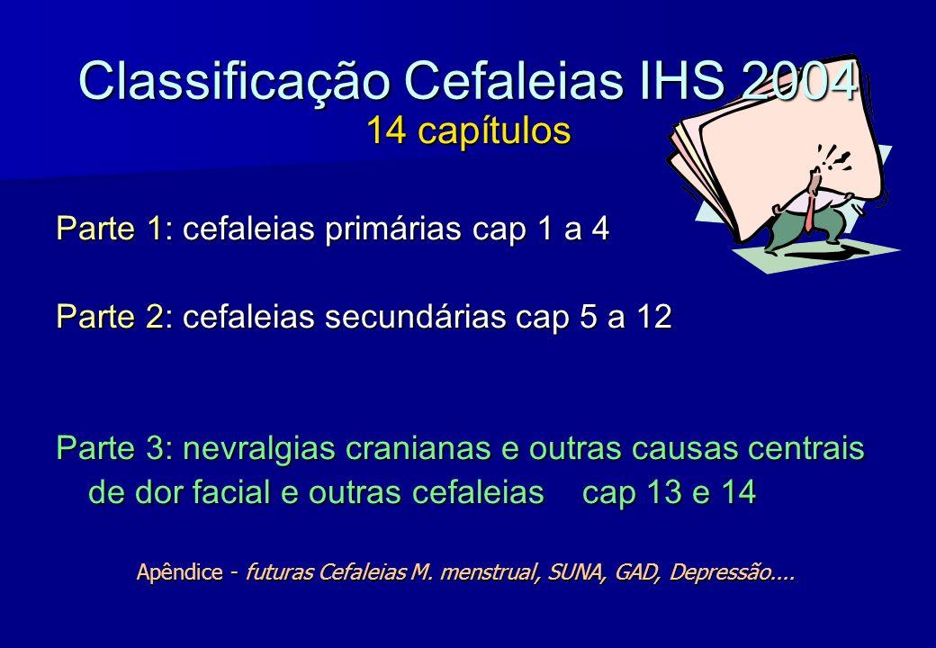 Classificação Cefaleias IHS 2004