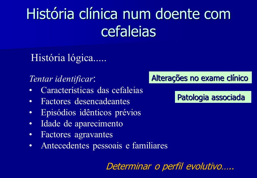 História clínica num doente com cefaleias