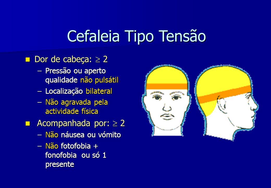 Cefaleia Tipo Tensão Dor de cabeça:  2 Acompanhada por:  2