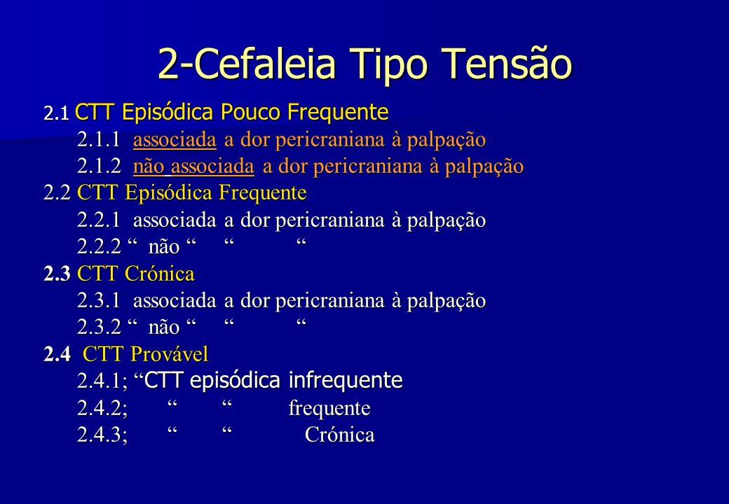 2-Cefaleia Tipo Tensão 2.1.1 associada a dor pericraniana à palpação