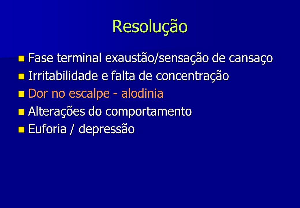 Resolução Fase terminal exaustão/sensação de cansaço
