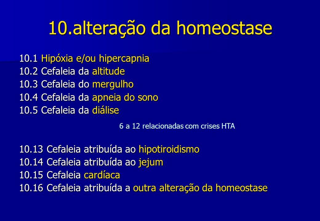 10.alteração da homeostase
