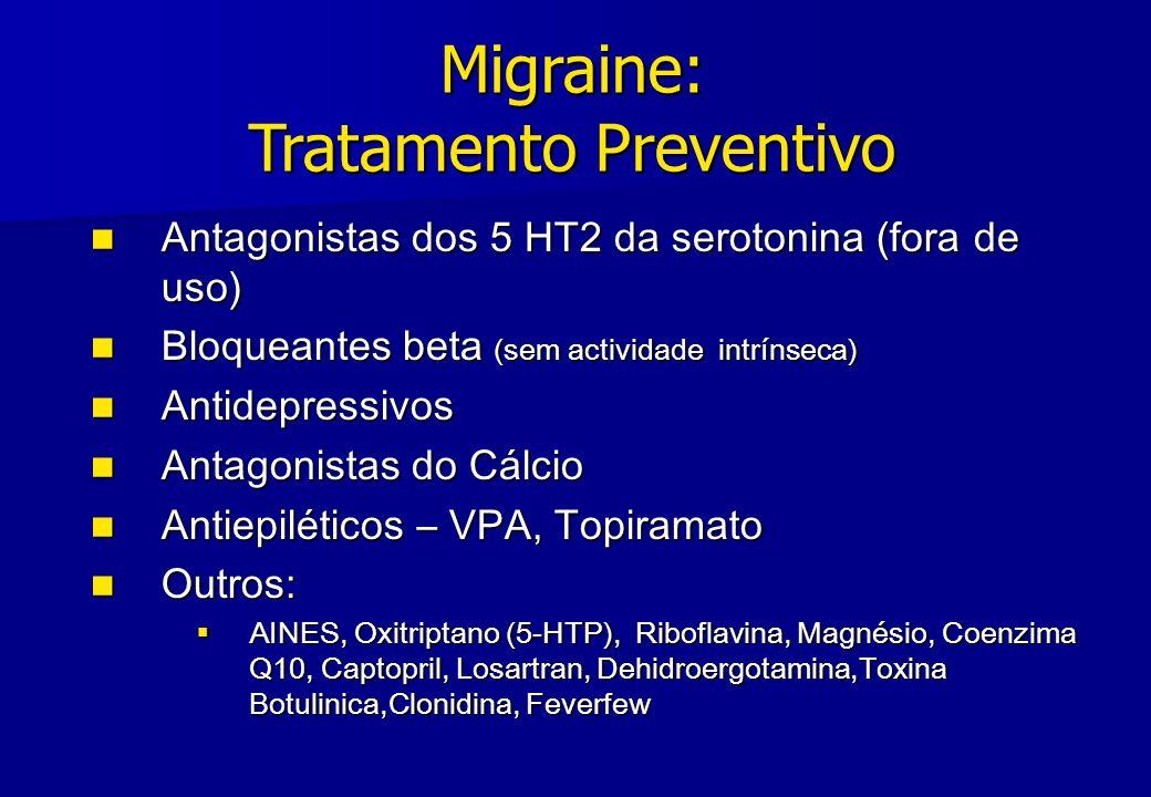 Migraine: Tratamento Preventivo