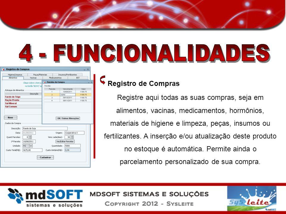 4 - FUNCIONALIDADES Registro de Compras