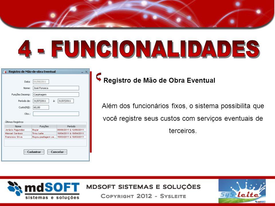 4 - FUNCIONALIDADES Registro de Mão de Obra Eventual