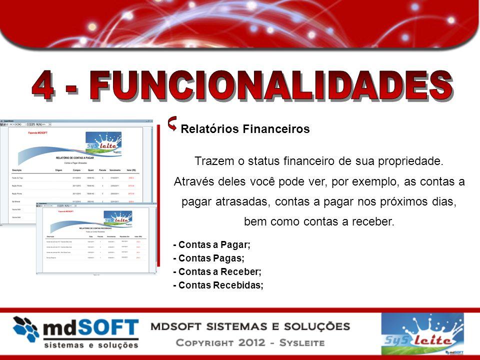 4 - FUNCIONALIDADES Relatórios Financeiros