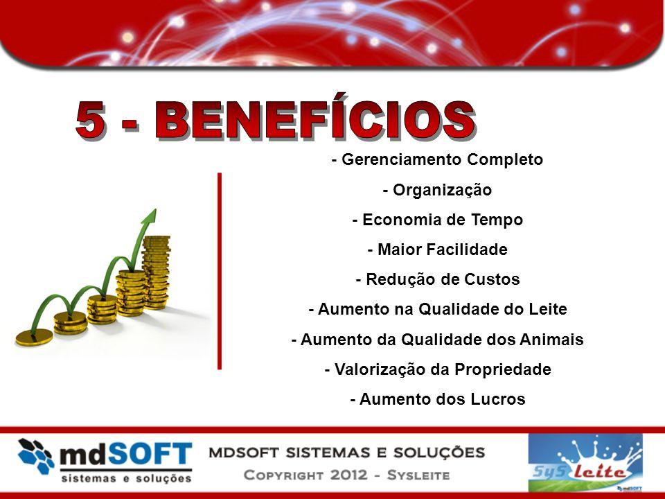 5 - BENEFÍCIOS - Gerenciamento Completo - Organização