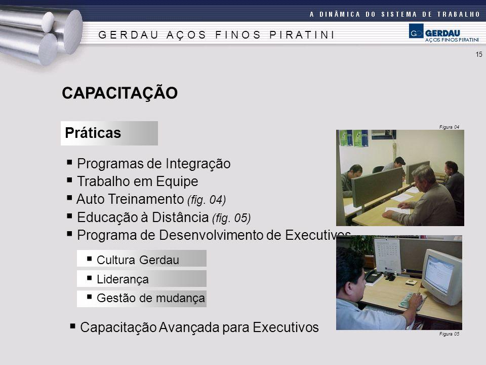 CAPACITAÇÃO Práticas Programas de Integração Trabalho em Equipe