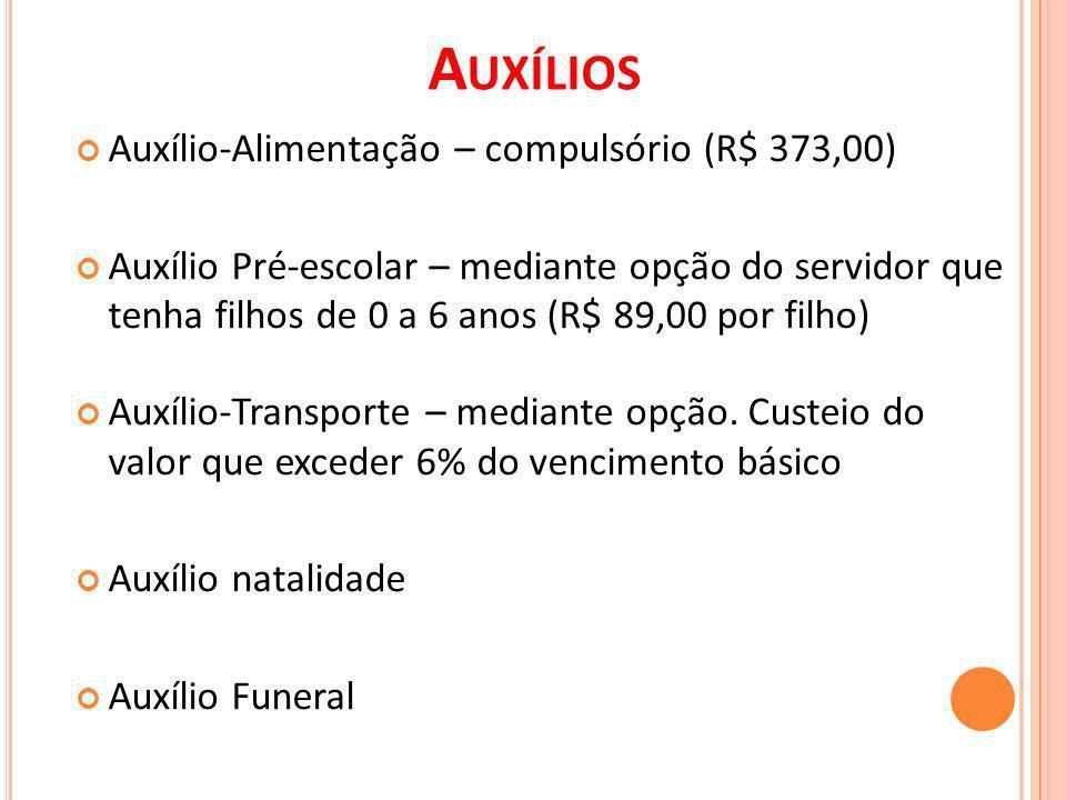 Auxílios Auxílio-Alimentação – compulsório (R$ 373,00)