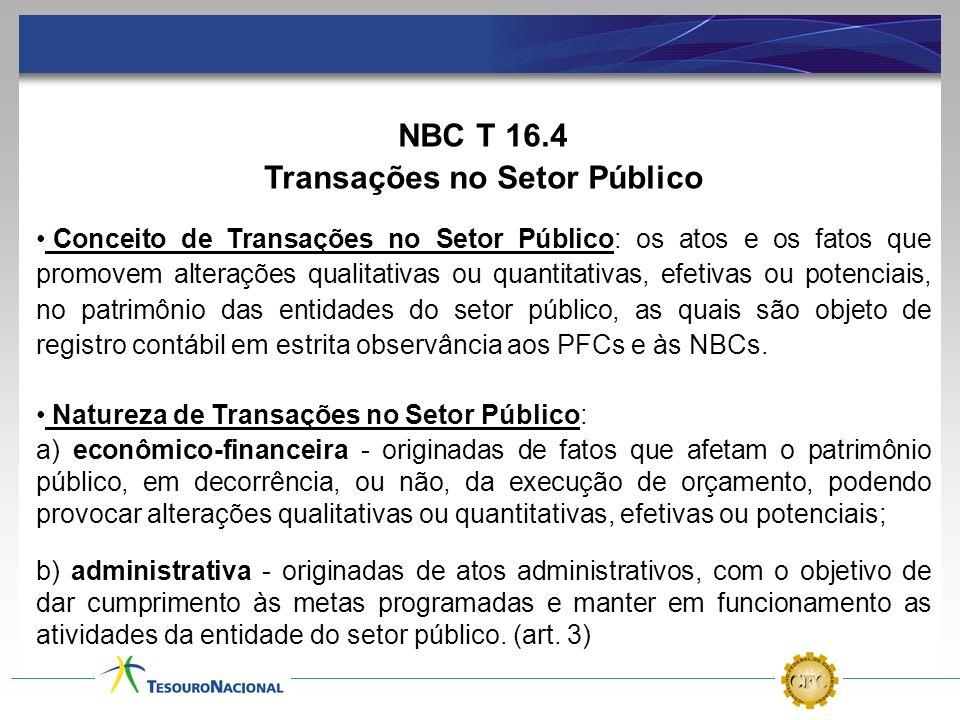 Transações no Setor Público