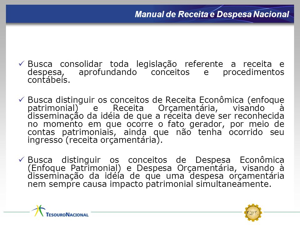 Manual de Receita e Despesa Nacional
