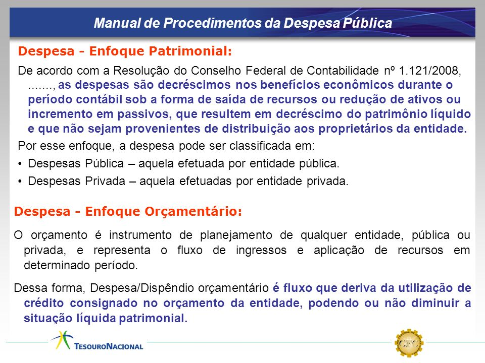 Manual de Procedimentos da Despesa Pública