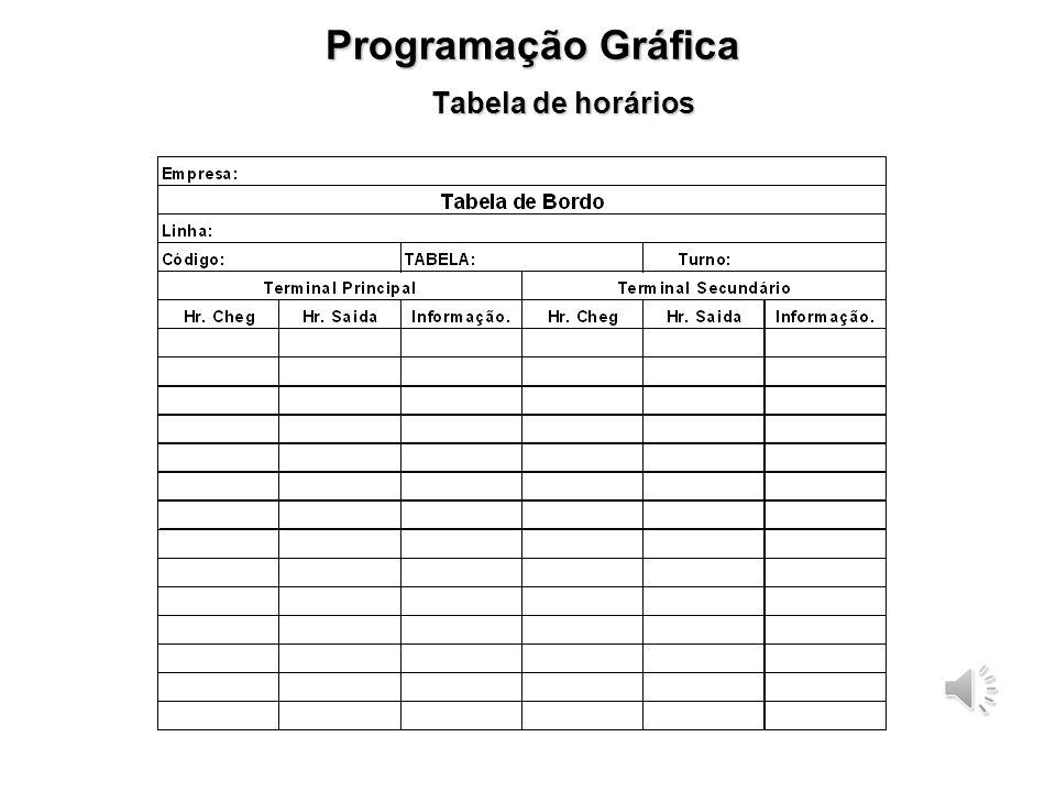 Programação Gráfica Tabela de horários