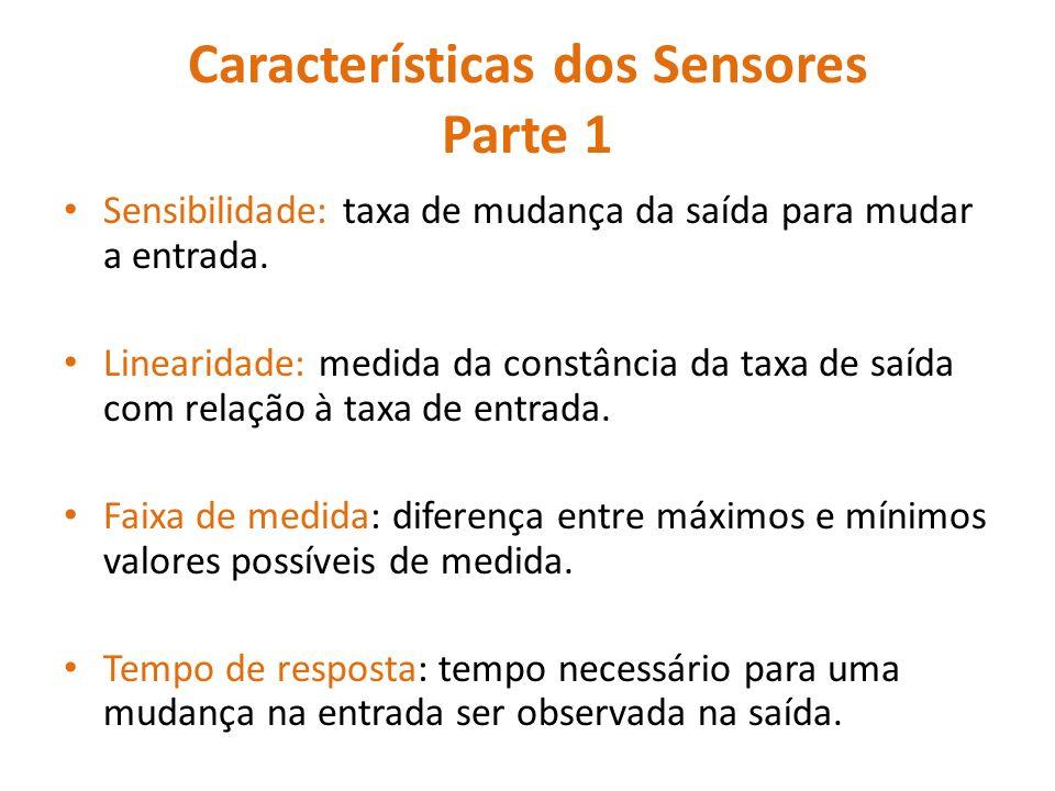 Características dos Sensores Parte 1