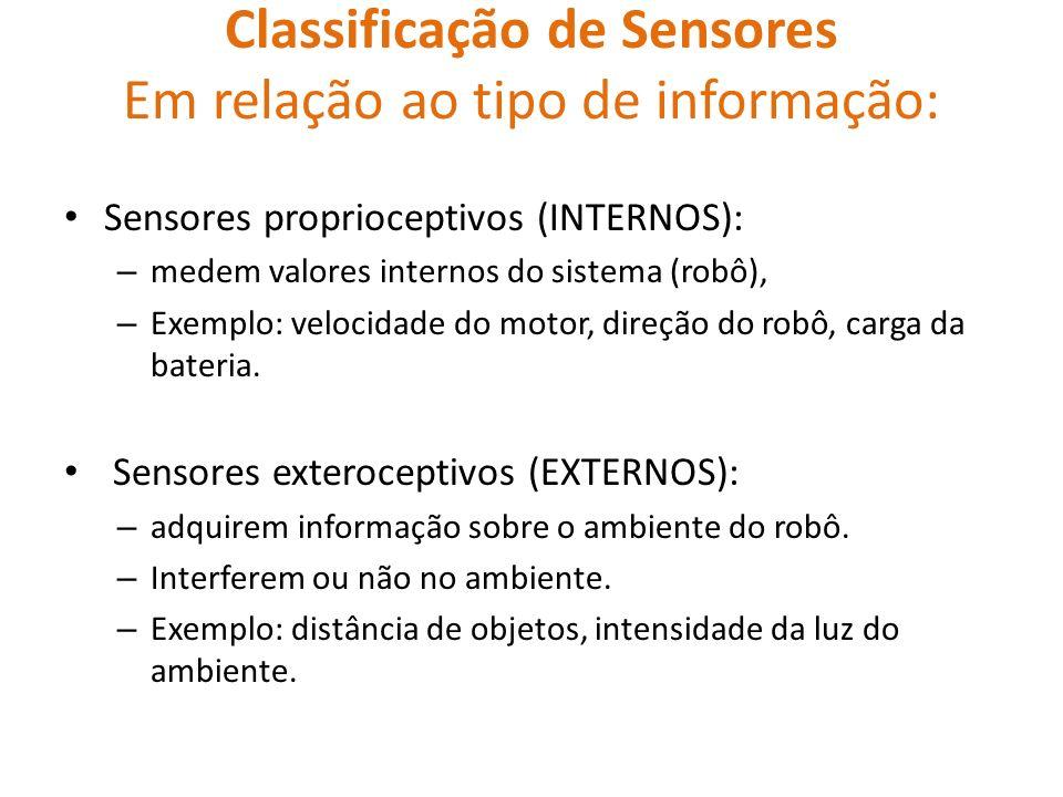 Classificação de Sensores Em relação ao tipo de informação: